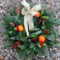 Christmas Decorated Spruce Wreath 10